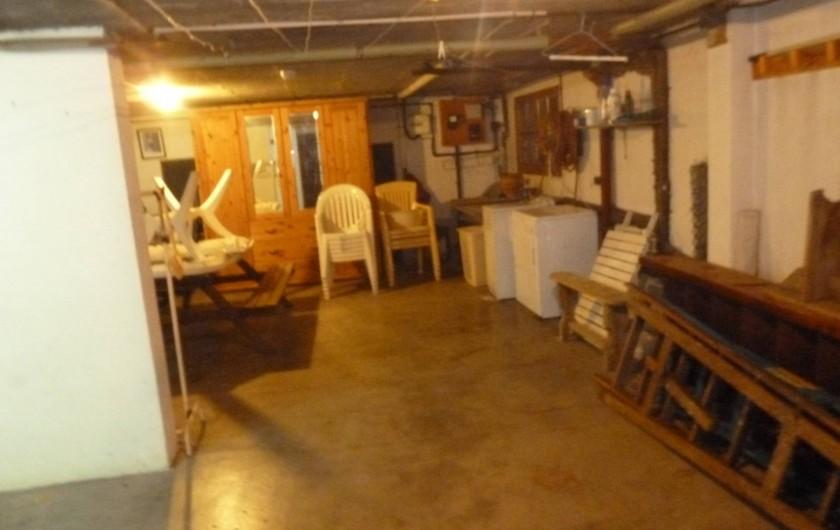 Location de vacances - Chalet à Alex - Garage avec machine à laver, sèche linge lave botte