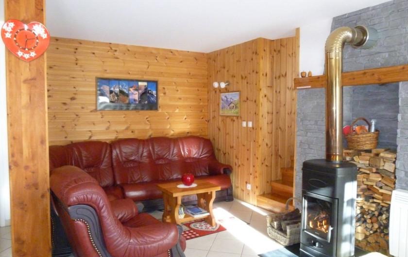 Location de vacances - Maison - Villa à Les Orres - Coin détente et Feu