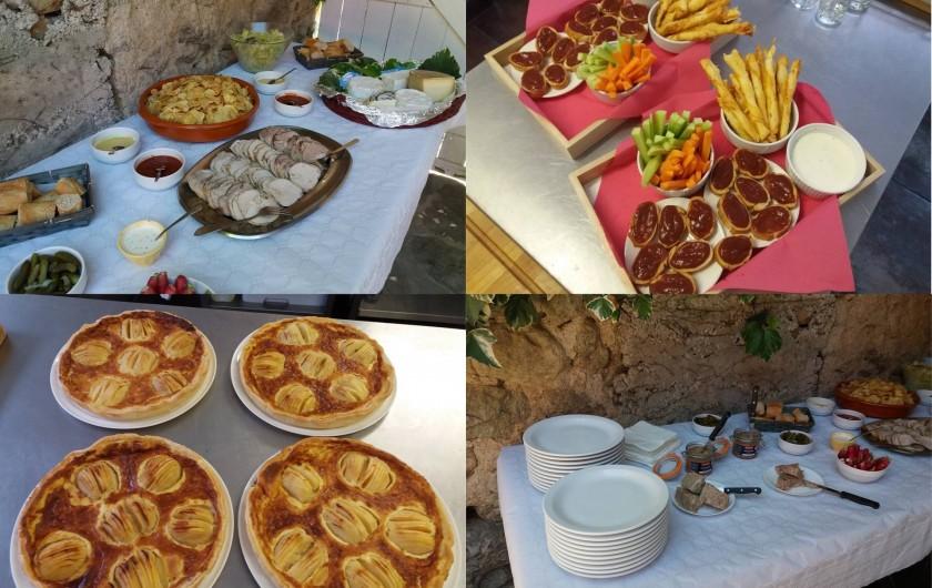 Location de vacances - Gîte à Valgorge - Buffet Nous cuisinons des produits du terroir.Tout est fait Maison!