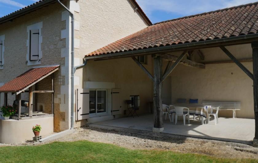 Location de vacances - Maison - Villa à Saint-Avit - Terrasse ombragée