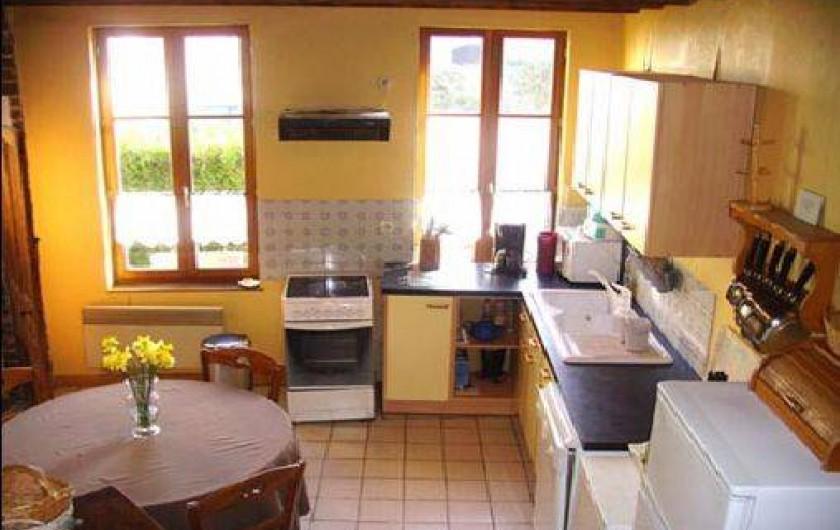 Location de vacances - Gîte à Neuville-sous-Montreuil - cuisine du gite