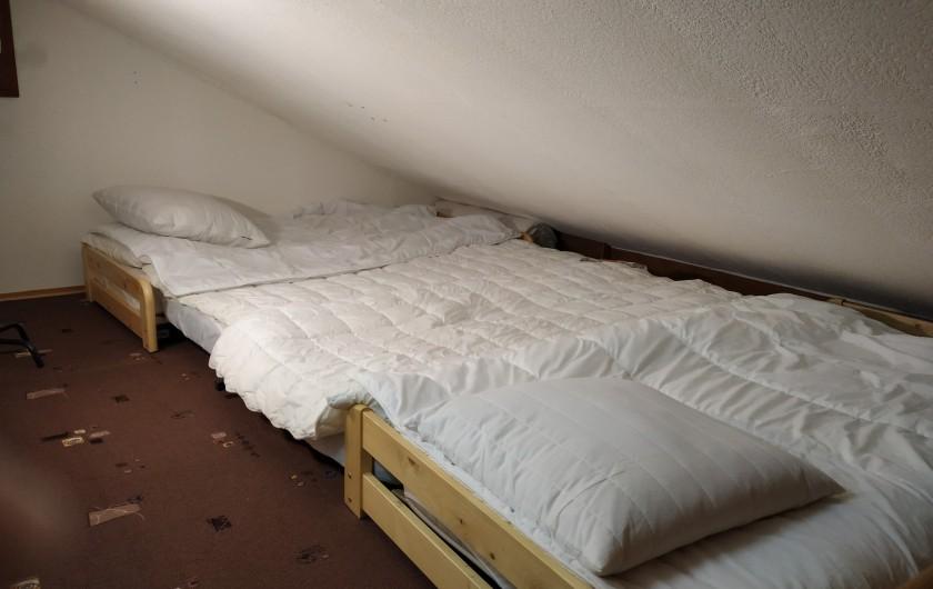 Location de vacances - Appartement à Les Carroz d'Arâches - ch2 : 4 lits 1 pers ou 2 lits 1 pers si on glisse les inf