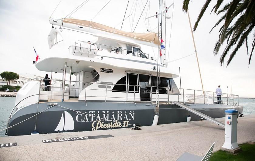 Location de vacances - Villa à Le Grau-du-Roi - Promenades en mer ou pêche tous les jours sur le Picardie catamaran.