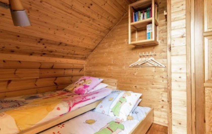 Location de vacances - Chalet à La Joue du Loup - Chalet Virginie - Chambre 3, lit gigognes transformable en lit double