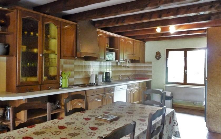 Location de vacances - Appartement à Ban-de-Laveline - cuisine et coin repas moyen gite