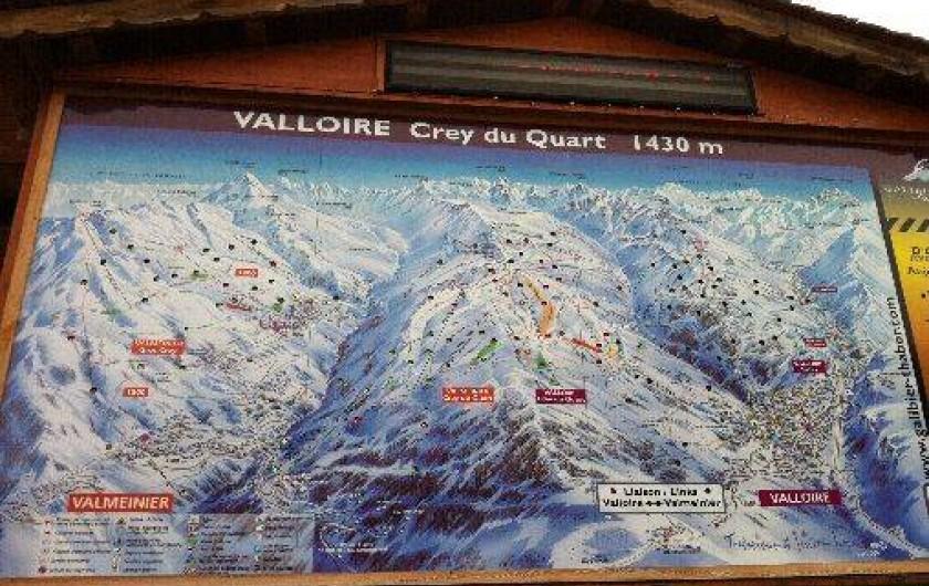 Location de vacances - Appartement à Valloire - PLAN DES PISTES