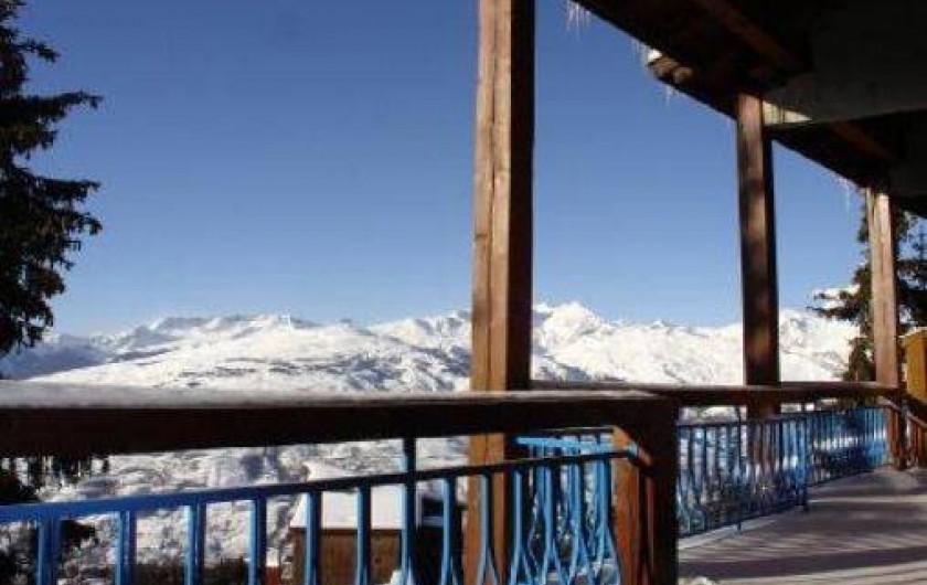 Location de vacances - Appartement à Les Arcs - Voici la vue que vous aurez sur la Pierra Menta  en prenant  vos repas ;