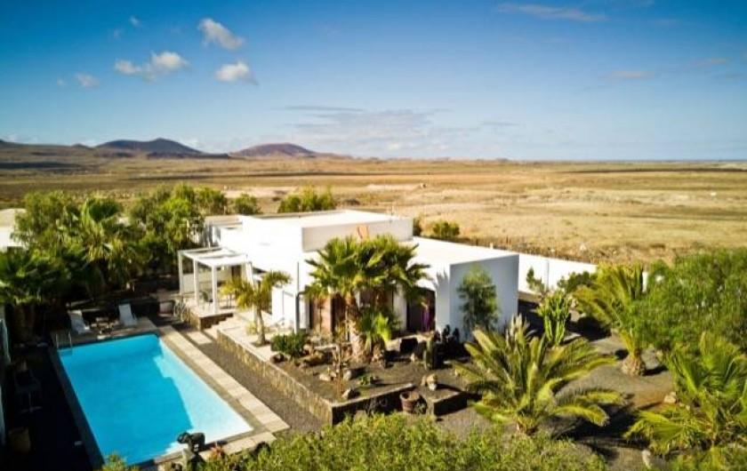 Location de vacances - Villa à Lajares - vue aerienne