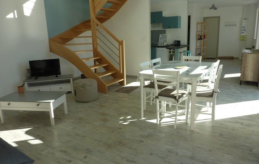 Location de vacances - Gîte à Teurthéville-Hague - Vue d'ensemble du rez de chaussée