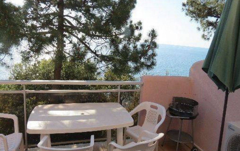 Location de vacances - Villa à Conca - Grande terrasse avec vue mer magnifique