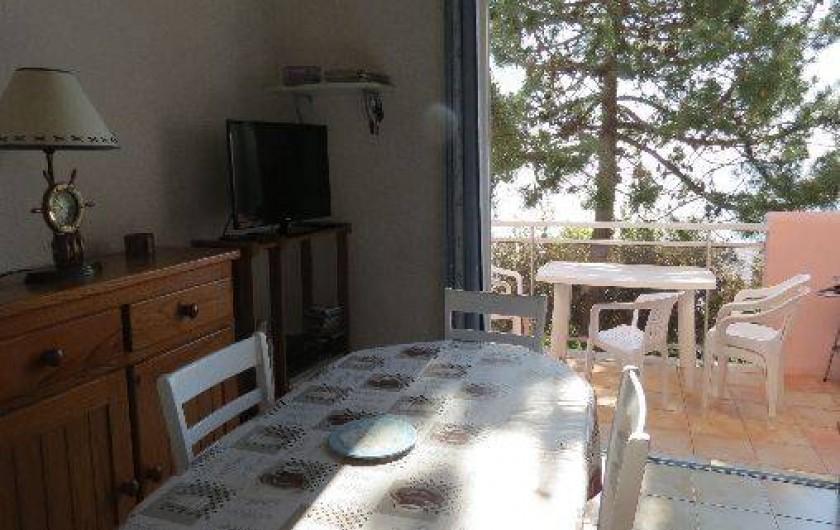 Location de vacances - Villa à Conca - Séjour avec accès à la terrasse
