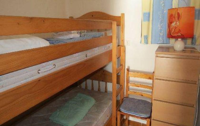 Location de vacances - Villa à Conca - Petite chambre avec 2 lits de 90 cm superposés