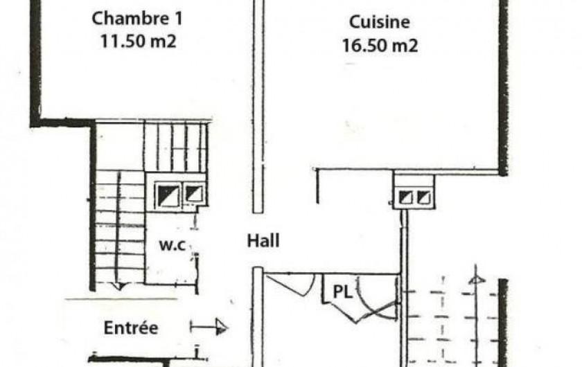 Location de vacances - Gîte à Saint-Pierre-de-Chartreuse - Plan du gite Gentiane