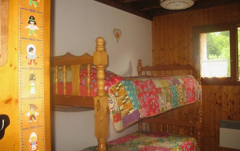 Location de vacances - Gîte à Saint-Pierre-de-Chartreuse - Chambre - 2 lits superposés