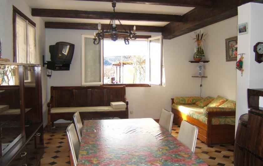 Location de vacances - Appartement à Sospel - Coin salon