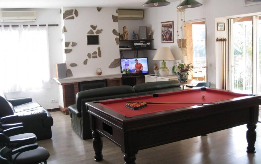 Location de vacances - Villa à Le Plan-de-la-Tour - BILLARD AU SALON avec TV et wi fi