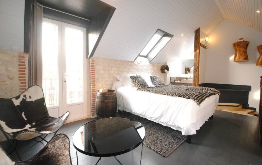 Location de vacances - Chambre d'hôtes à Marchais - suite duplex spa privatif