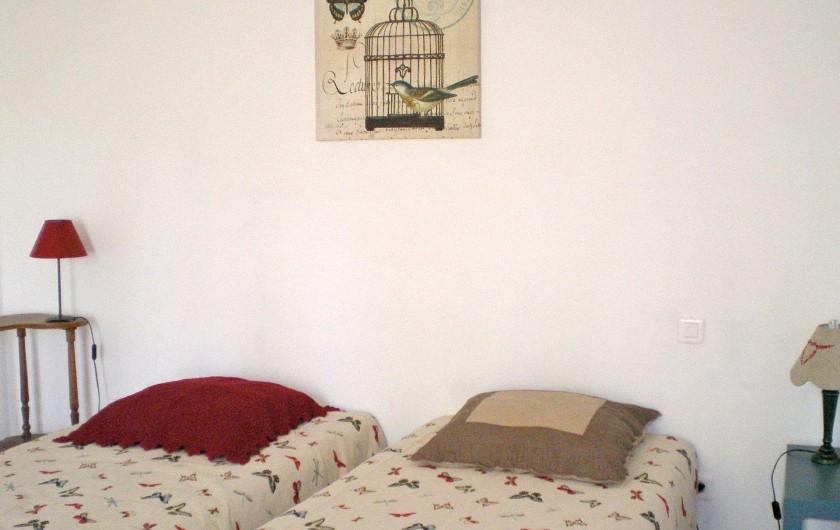Location de vacances - Gîte à Tharaux - Chambre à deux lits