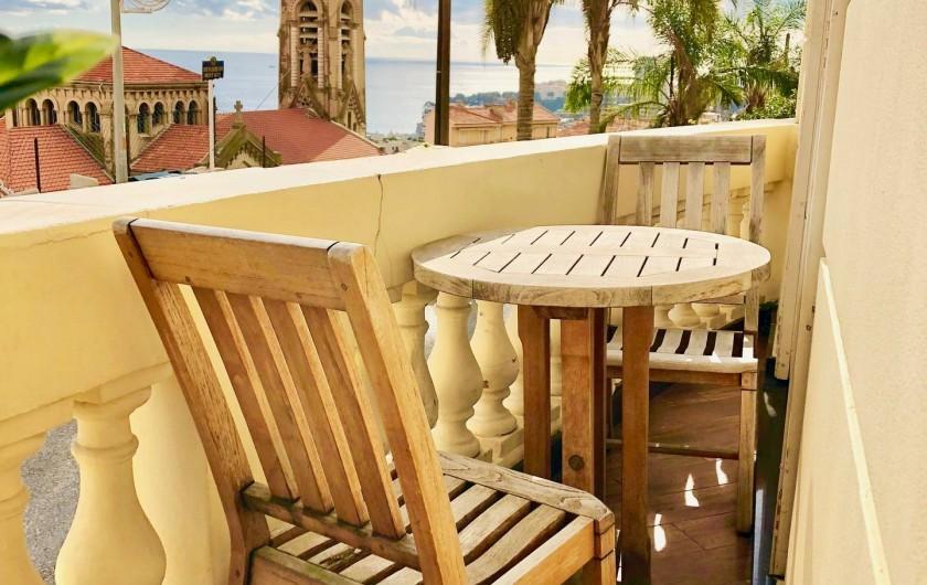Location de vacances - Appartement à Monaco-Ville - le balcon
