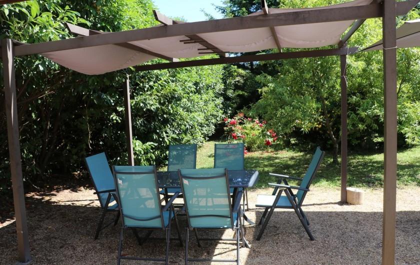 Location de vacances - Appartement à Nazelles-Négron - Terrasse arrière
