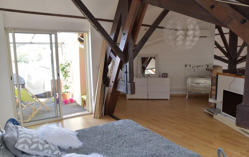 Location de vacances - Appartement à 16e Arrondissement - Chambre 1 avec terrasse privative
