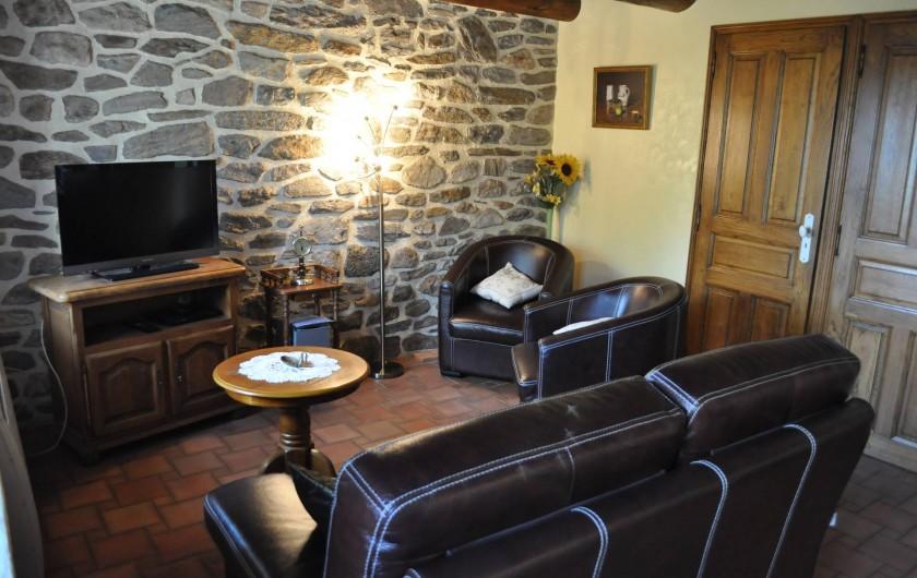 Location de vacances - Gîte à Saint-Flour - salon avec téléviseur