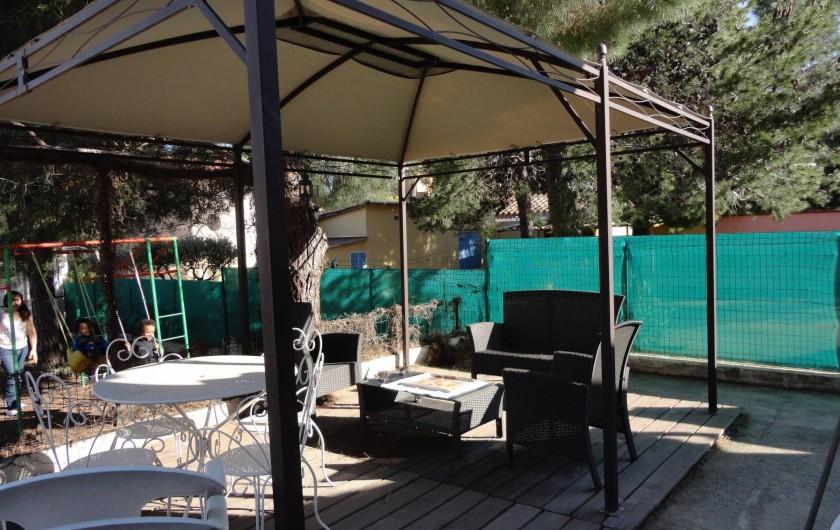 Location de vacances - Villa à Argelès Plage - salon de jardin  tres agreable au petit dejeuner