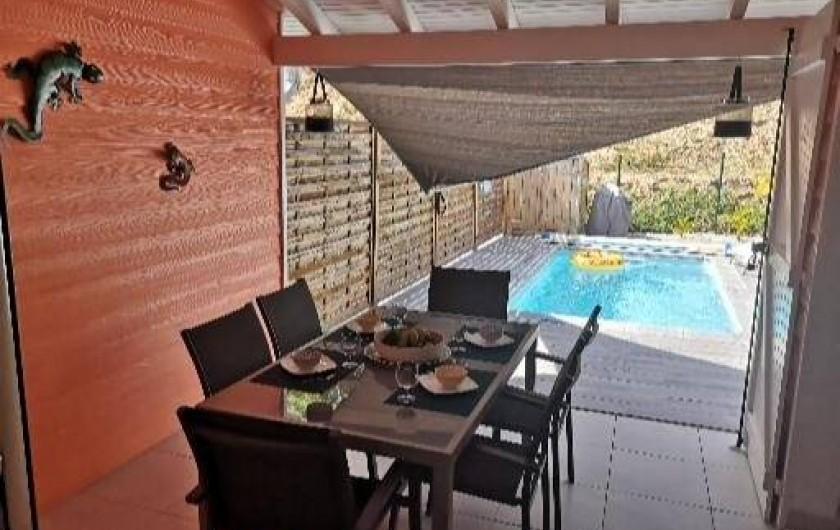 Location de vacances - Villa à Les Trois-Îlets - Terrasse couverte