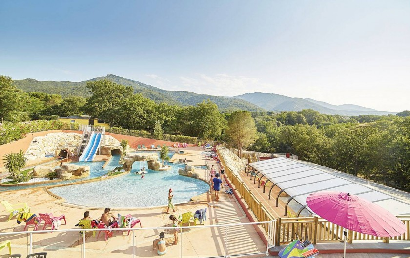 Location de vacances - Camping à Laroque-des-Albères - Complexe aquatique couvert et chauffé