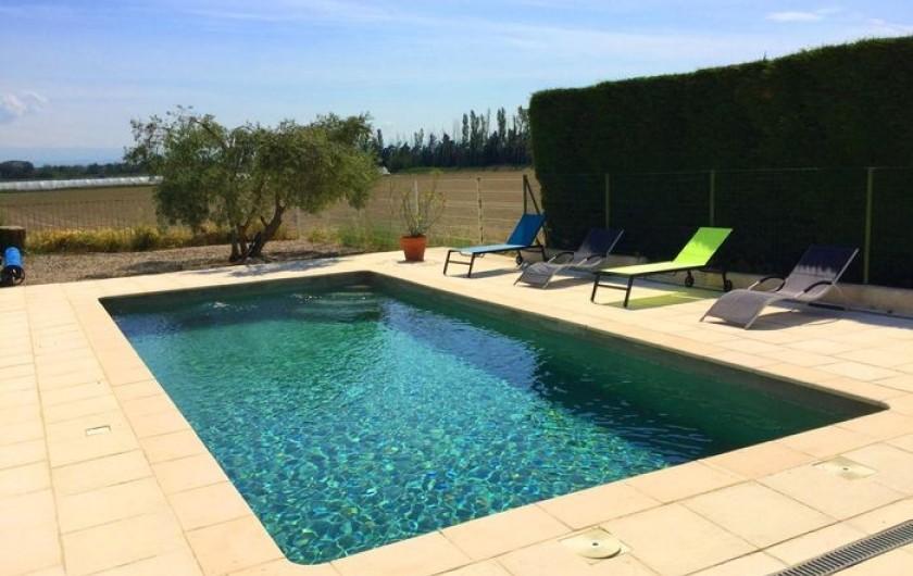Location de vacances - Gîte à Bédarrides - Piscine privée sans vis-à-vis
