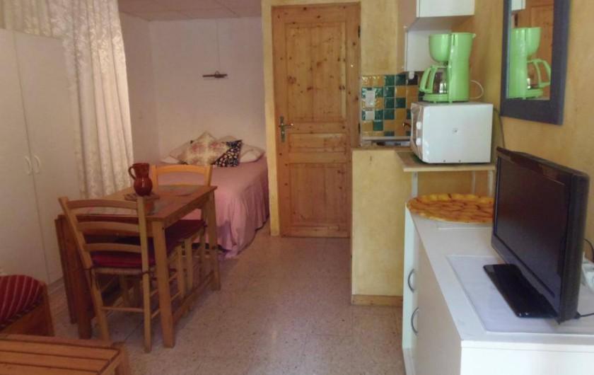 Location de vacances - Camping à Sorède - Appartement Studio 25 m² - terrasse 12 m²