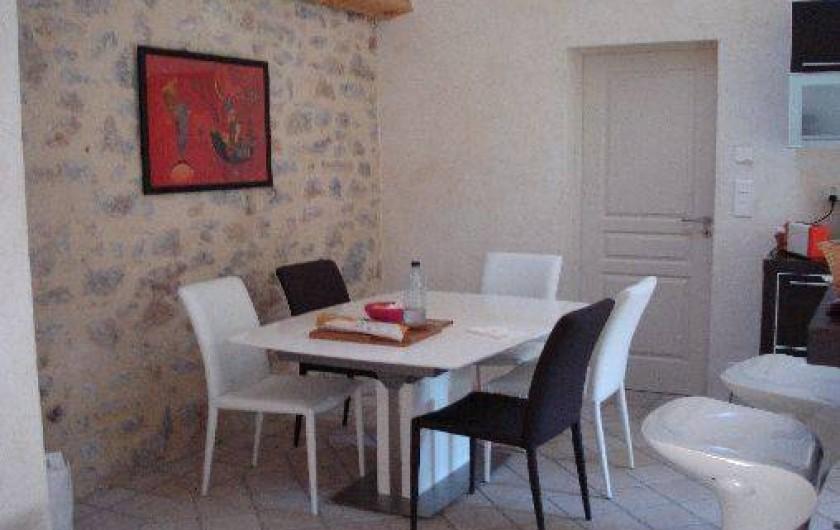 Location de vacances - Villa à Golfe-Juan - Le coin repas......