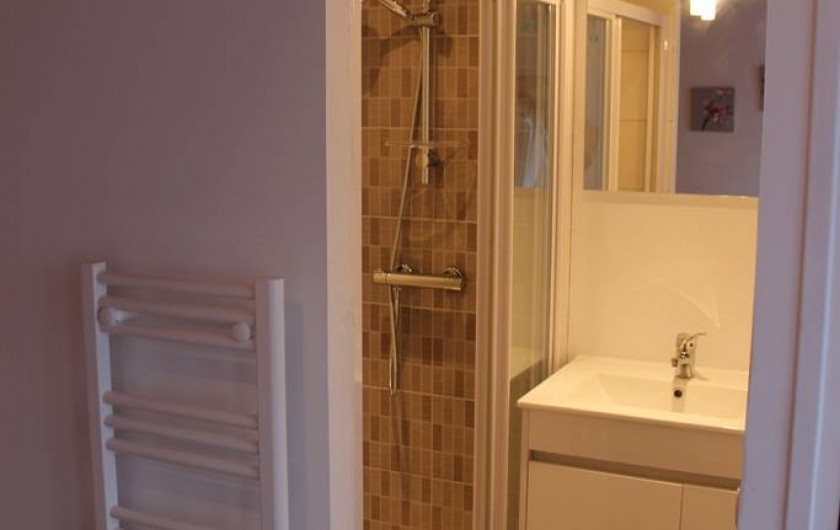 Location de vacances - Appartement à Saint-Pair-sur-Mer - Tres grande douche 120x80 !