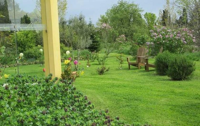 Location de vacances - Gîte à Salon-de-Provence - Autre vue du jardin