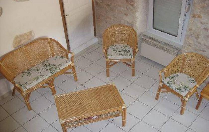 Location de vacances - Gîte à Bize-Minervois - coin salon vue de la mezzanine