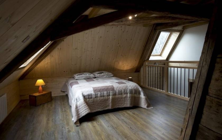 Location de vacances - Gîte à Saint-Pierre-de-Chartreuse - Mezzanine au 2ème étage / lit 2 personnes