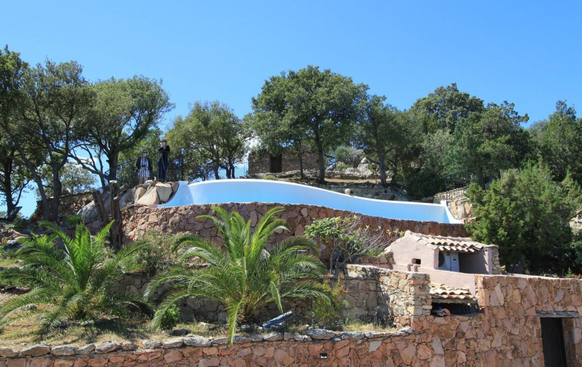 Location de vacances - Maison - Villa à Porto-Vecchio - Vue Piscine et coin Massage