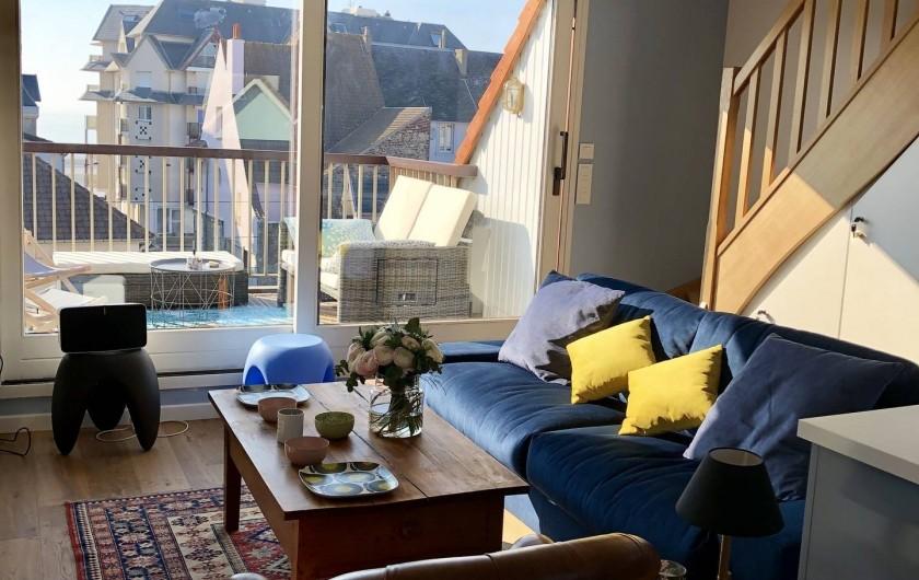 Location de vacances - Appartement à Wimereux - Salon sur Terrasse
