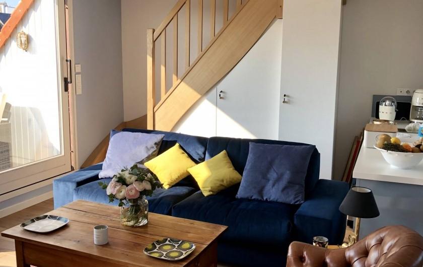 Location de vacances - Appartement à Wimereux - Canapé lit trés confortable vue mer