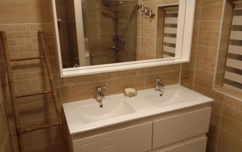 Location de vacances - Gîte à Chaillevette - la salle de bain ( les vasque)