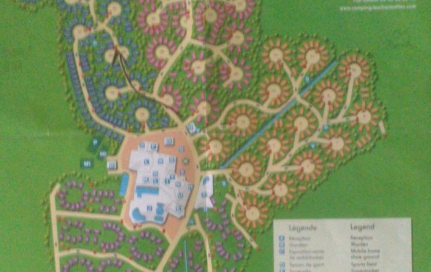 Location de vacances - Camping à La Palmyre - Plan du site. Mobil home à 3 mn à pieds du complexe.