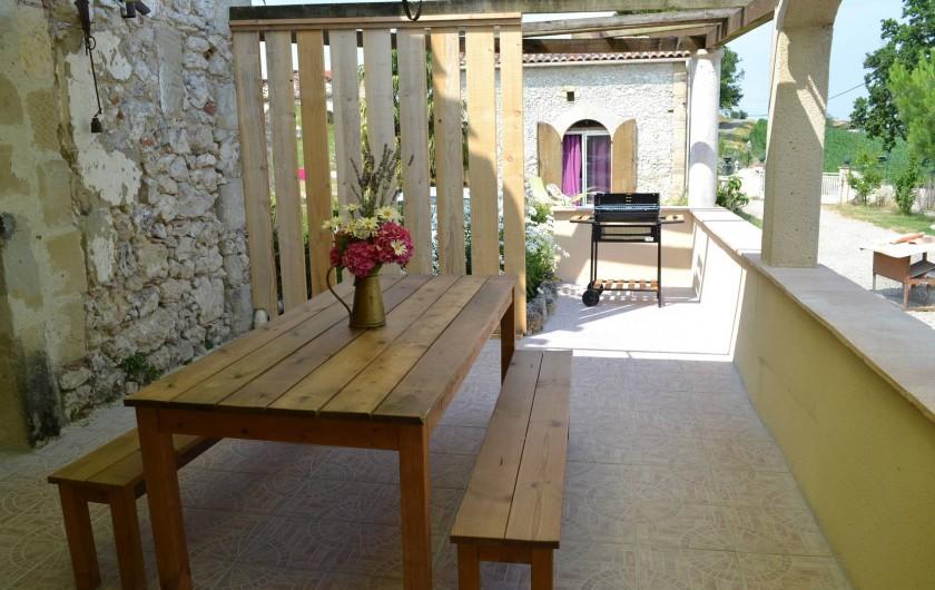 Location de vacances - Gîte à Brugnac - Terrasse privée