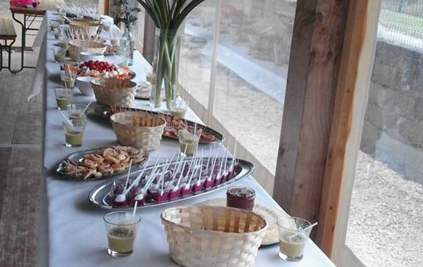 Location de vacances - Gîte à Brugnac - buffet dans la salle de réception
