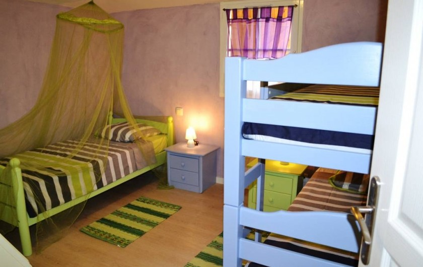 Location de vacances - Gîte à Brugnac - Chambre triple Appollo