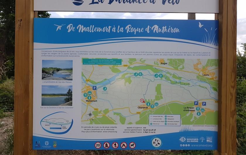 Location de vacances - Appartement à Charleval - parcours vélos et pédestres