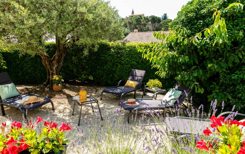 Location de vacances - Gîte à Crillon-le-Brave - coin repos dans le jardin