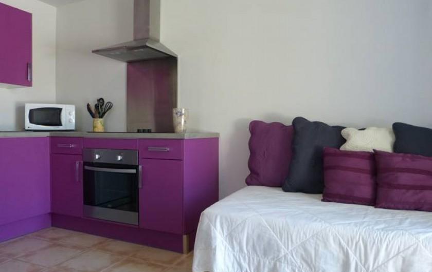 Location de vacances - Gîte à Cairanne - Gîte Les Lauriers, cuisine salle à manger