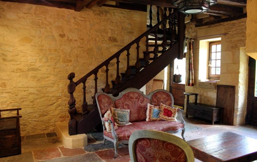 Location de vacances - Gîte à Saint-Cybranet - salon