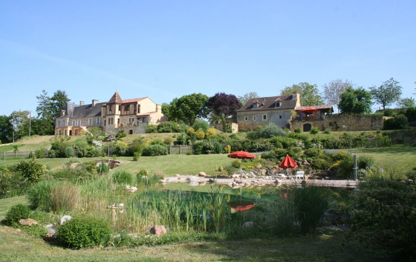 Location de vacances - Gîte à Saint-Cybranet - vue d'ensemble coté nord du domaine