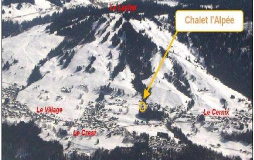 Location de vacances - Chalet à Crest-Voland - Vue depuis le Charvin